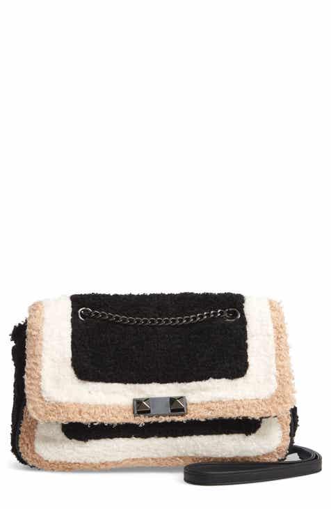 Violet Ray New York High Pile Fleece Crossbody Bag 61d713166498b
