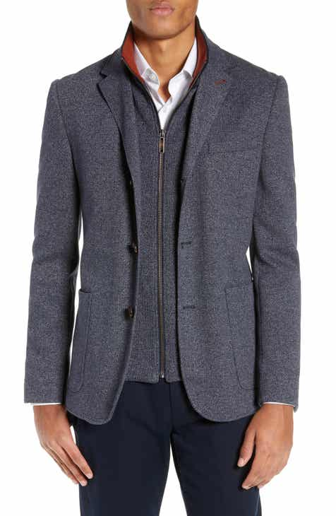 d9c491efd8334 Ted Baker London Cole Layered Look Herringbone Jacket