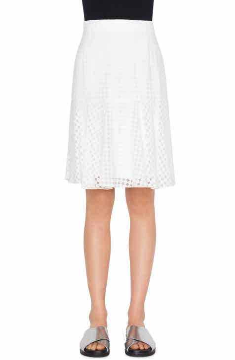 Akris punto Dot Design Flounce Hem Skirt by AKRIS PUNTO