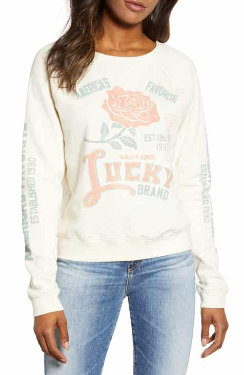 83a76097cf1 Lucky Brand Rose Sweatshirt