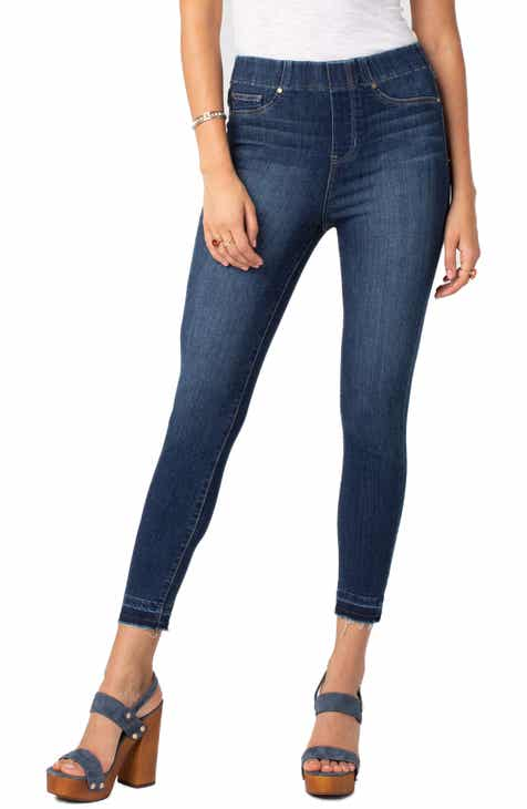 Liverpool Chloe Release Hem Pull-On Skinny Jeans (Mayfield) by LIVERPOOL