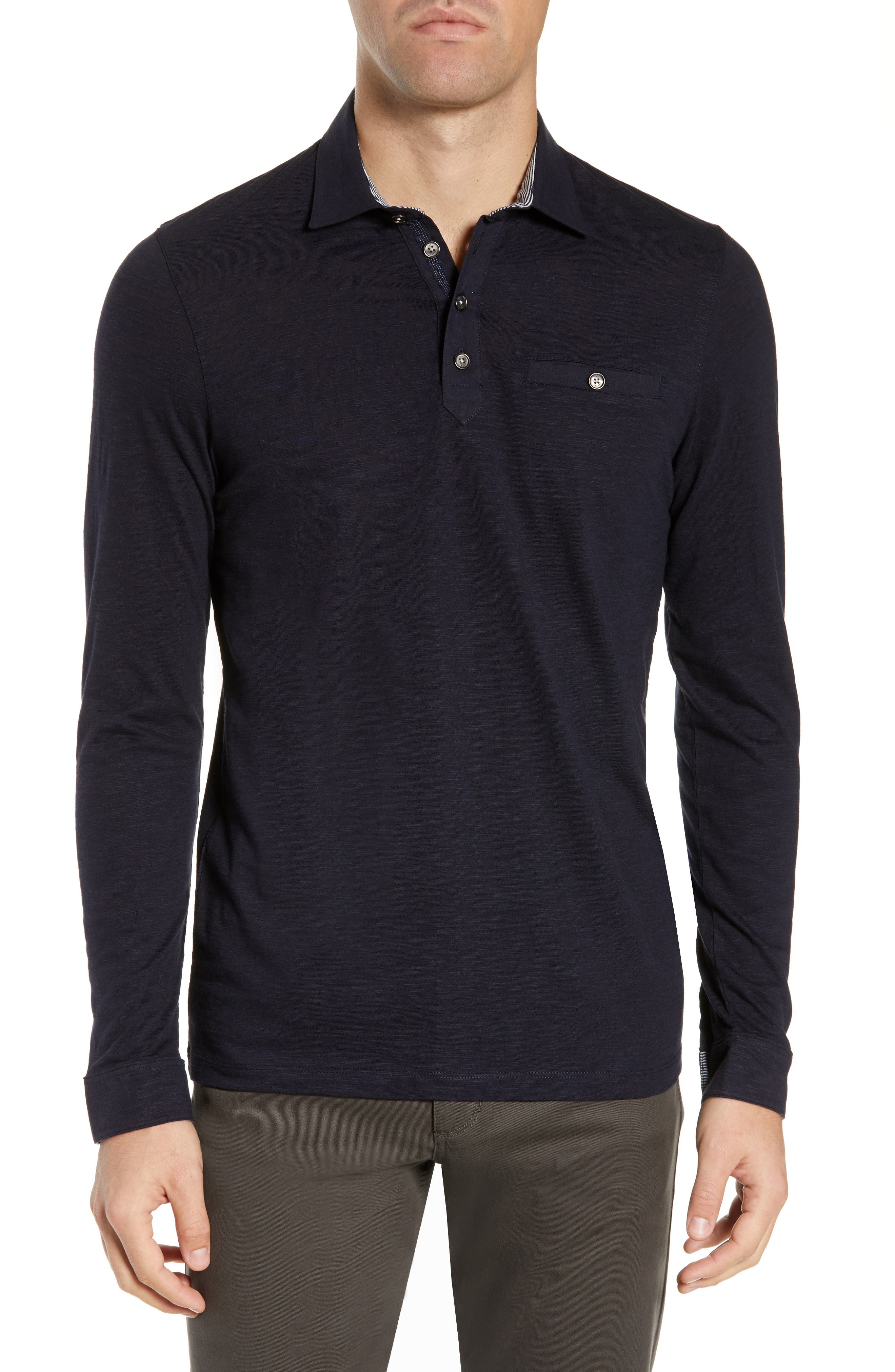 d7ebb0cff93 ... coupon code for ted baker london hoper slim fit long sleeve pocket polo  a292b 6ab73