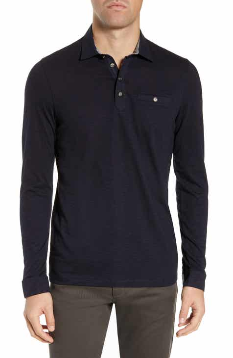b8a6241a Ted Baker London Hoper Slim Fit Long Sleeve Pocket Polo