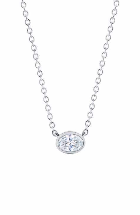 1a0652b7f Kwiat Stackable Oval Diamond & 18K Gold Pendant Necklace