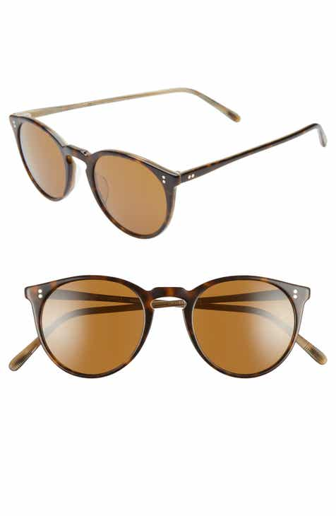 885235b57 Oliver Peoples O'Malley 48mm Round Sunglasses