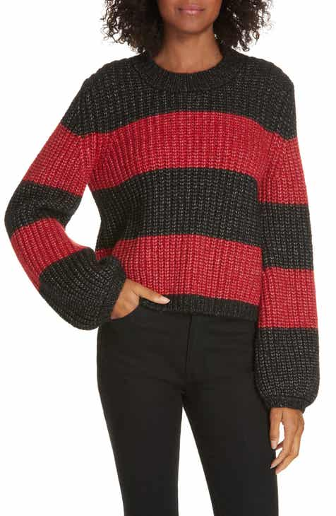 6dde4c3703 La Ligne Colorblock Balloon Sleeve Crop Sweater