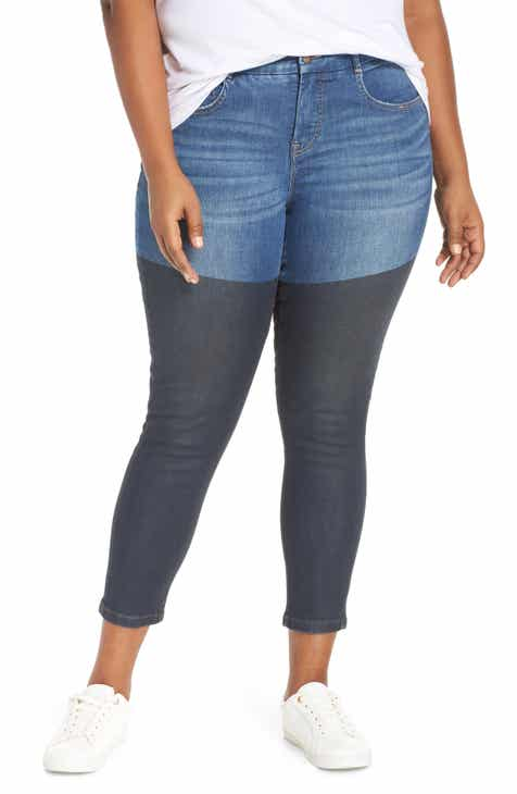 7ac803b52942 YSJ Coated Ankle Skinny Jeans (Coconut Grove) (Plus Size)