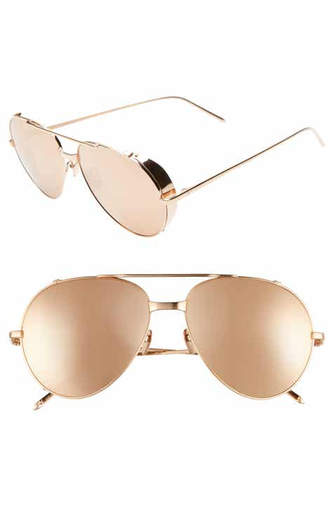 fc9212f91f Linda Farrow 58mm Aviator Sunglasses