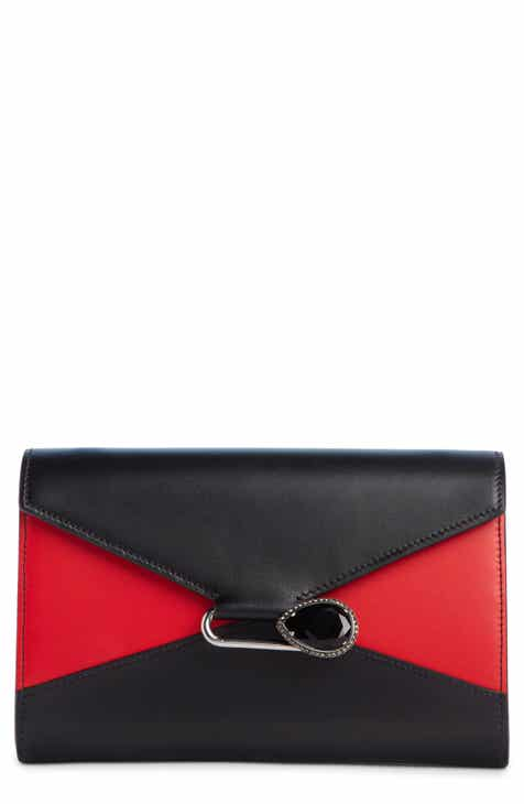 0e7bf14aa974 Alexander McQueen Bicolor Pin Envelope Crossbody Wallet