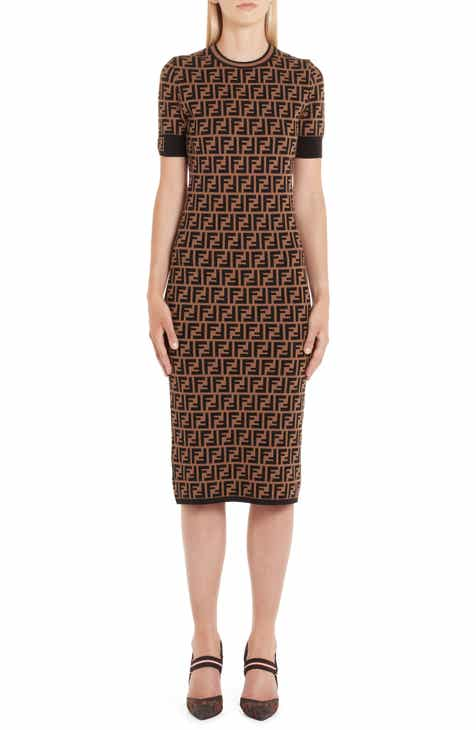 Fendi FF Logo Knit Dress 1def43cabdc11