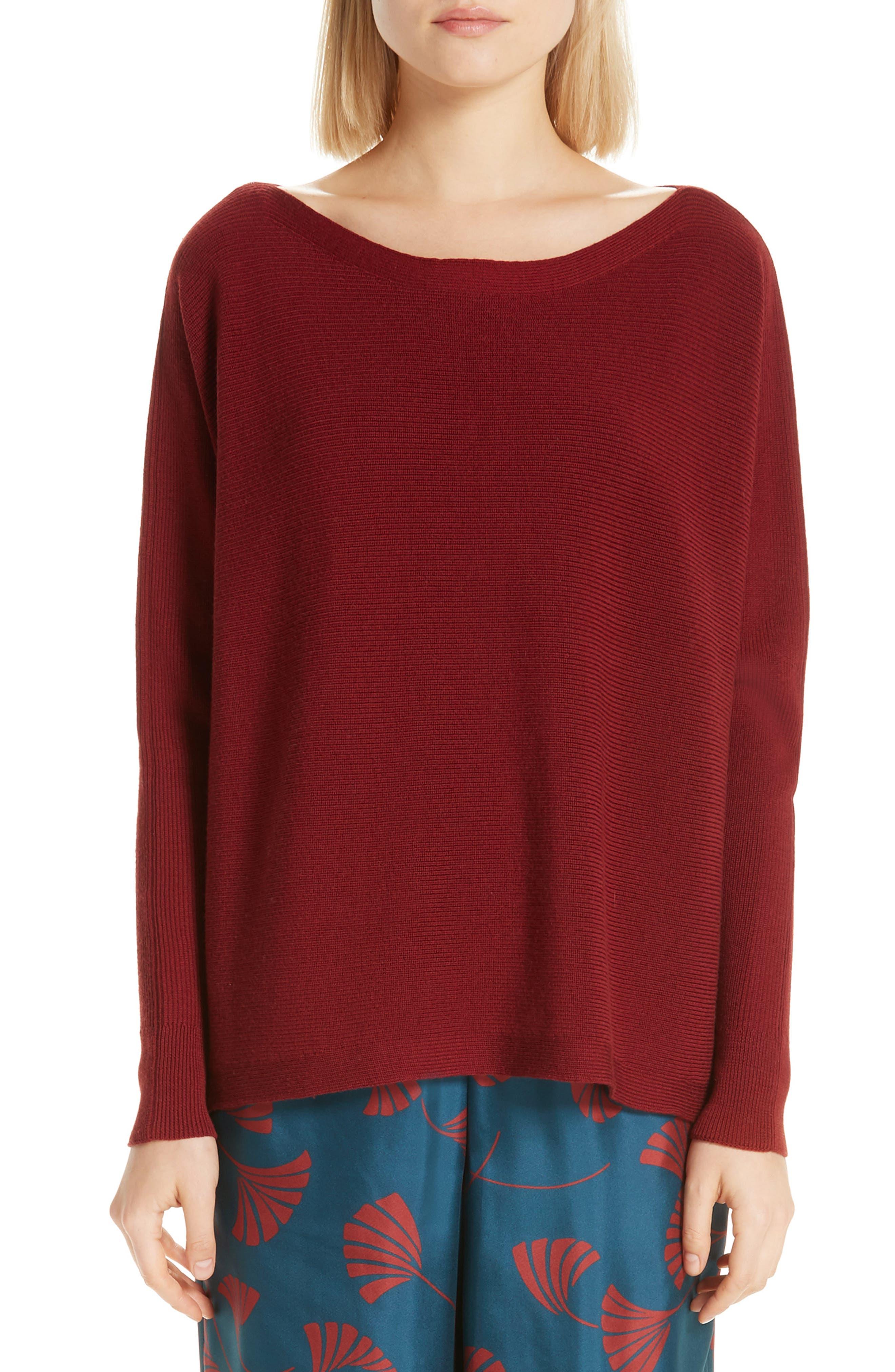 Dolman York Sleeve Sweater New Lafayette 148 Ribbed 78Pa48Bf