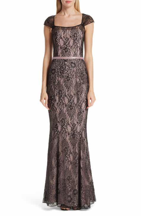 Verdin Cap Sleeve Lace Evening Dress by VERDIN