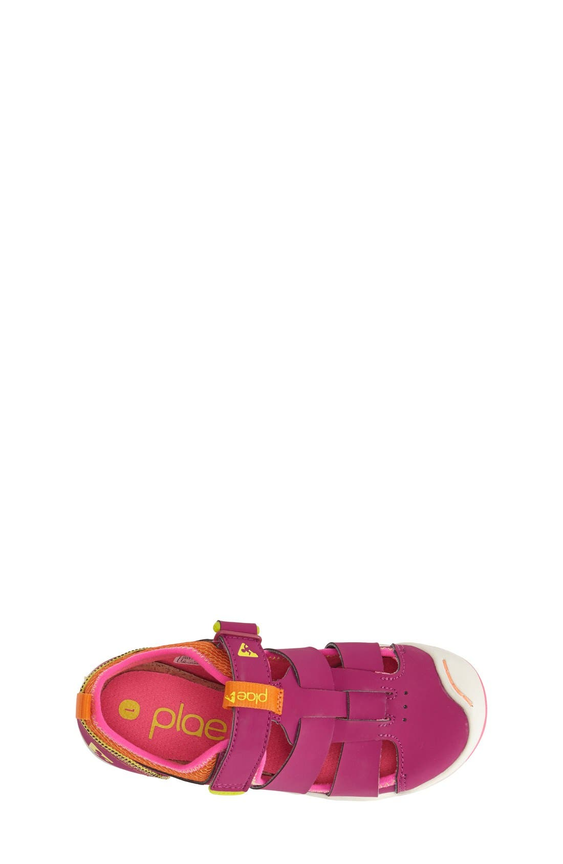 'Sam' Customizable Sneaker,                             Alternate thumbnail 3, color,                             Festival Fuchsia