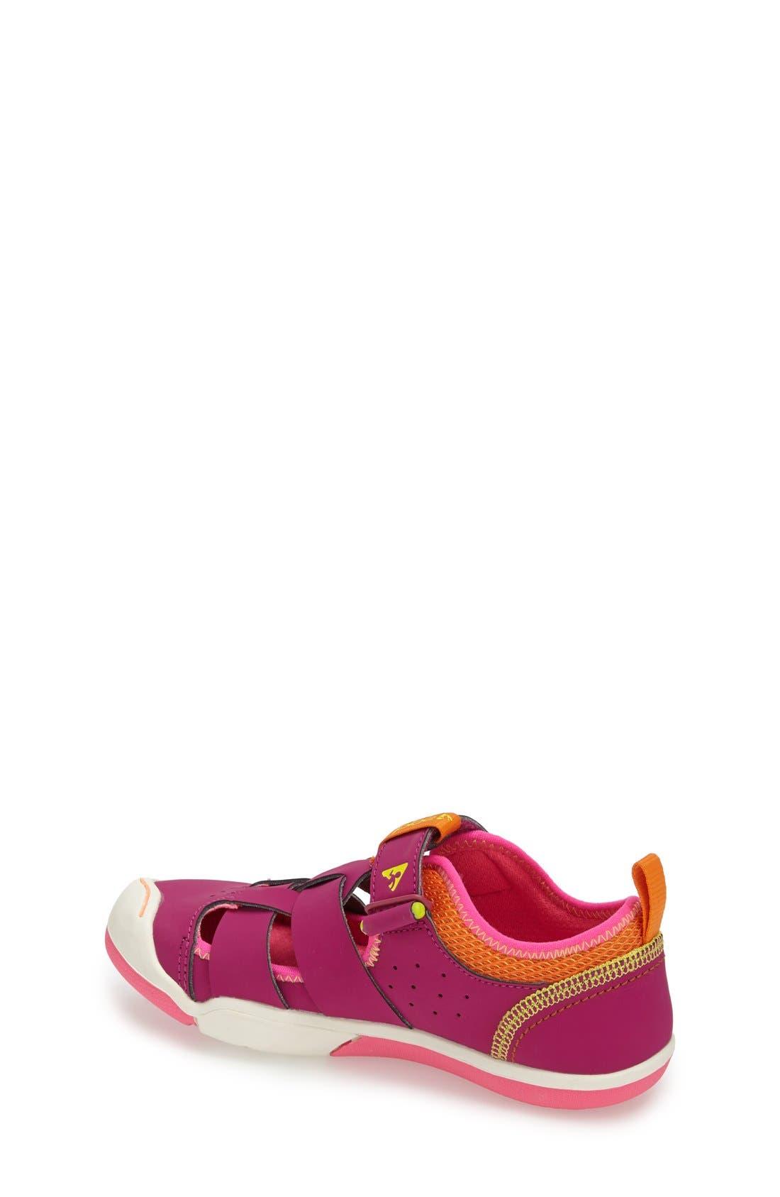 'Sam' Customizable Sneaker,                             Alternate thumbnail 2, color,                             Festival Fuchsia