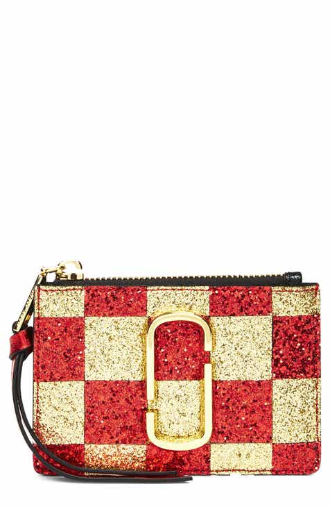 1824a49a726d MARC JACOBS Snapshot Glitter Checkerboard Small Wallet