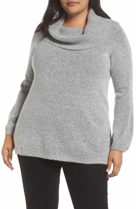 9b1594a3a041 Single Thread Convertible Neck Sweater (Plus Size)