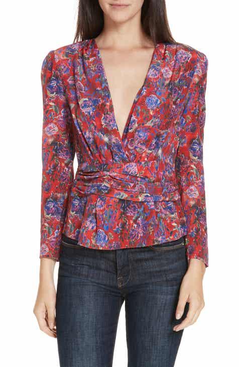 6afef093385 IRO Hurl Floral Print Silk Blouse