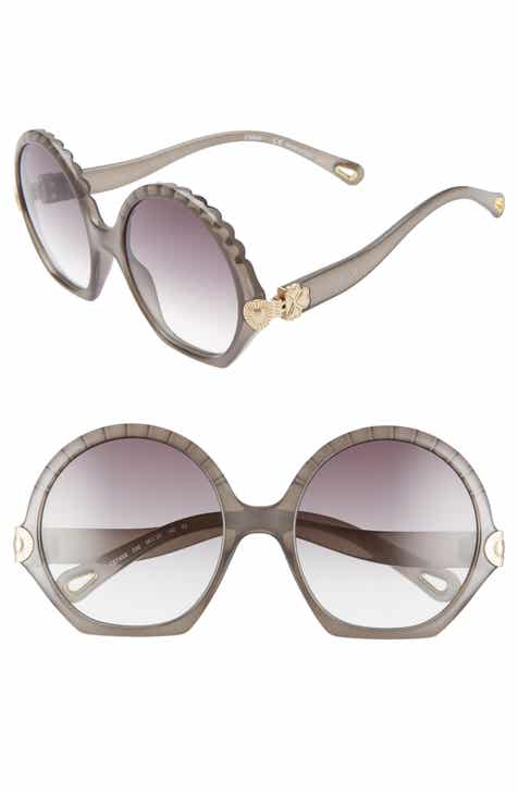 e467987e673 Chloé Vera Seashell 56mm Round Sunglasses