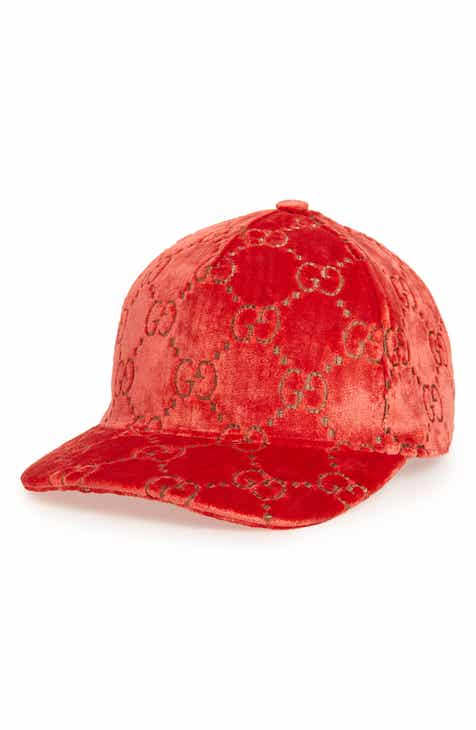 Gucci Logo Embroidered Velvet Baseball Cap a6a3bd7342a8