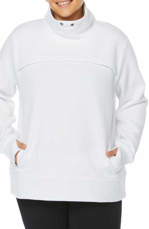 0140e4c4f97 SHAPE Activewear Overcast Funnel Neck Pullover (Plus Size)