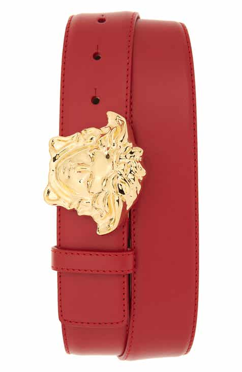 1cc6676fac Versace Medusa Head Leather Belt