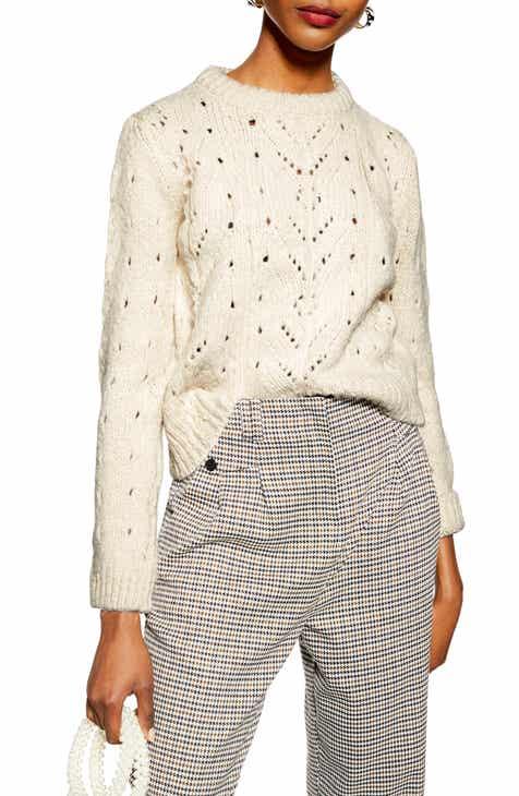 Topshop Pointelle Lace Sweater 1c86751d7