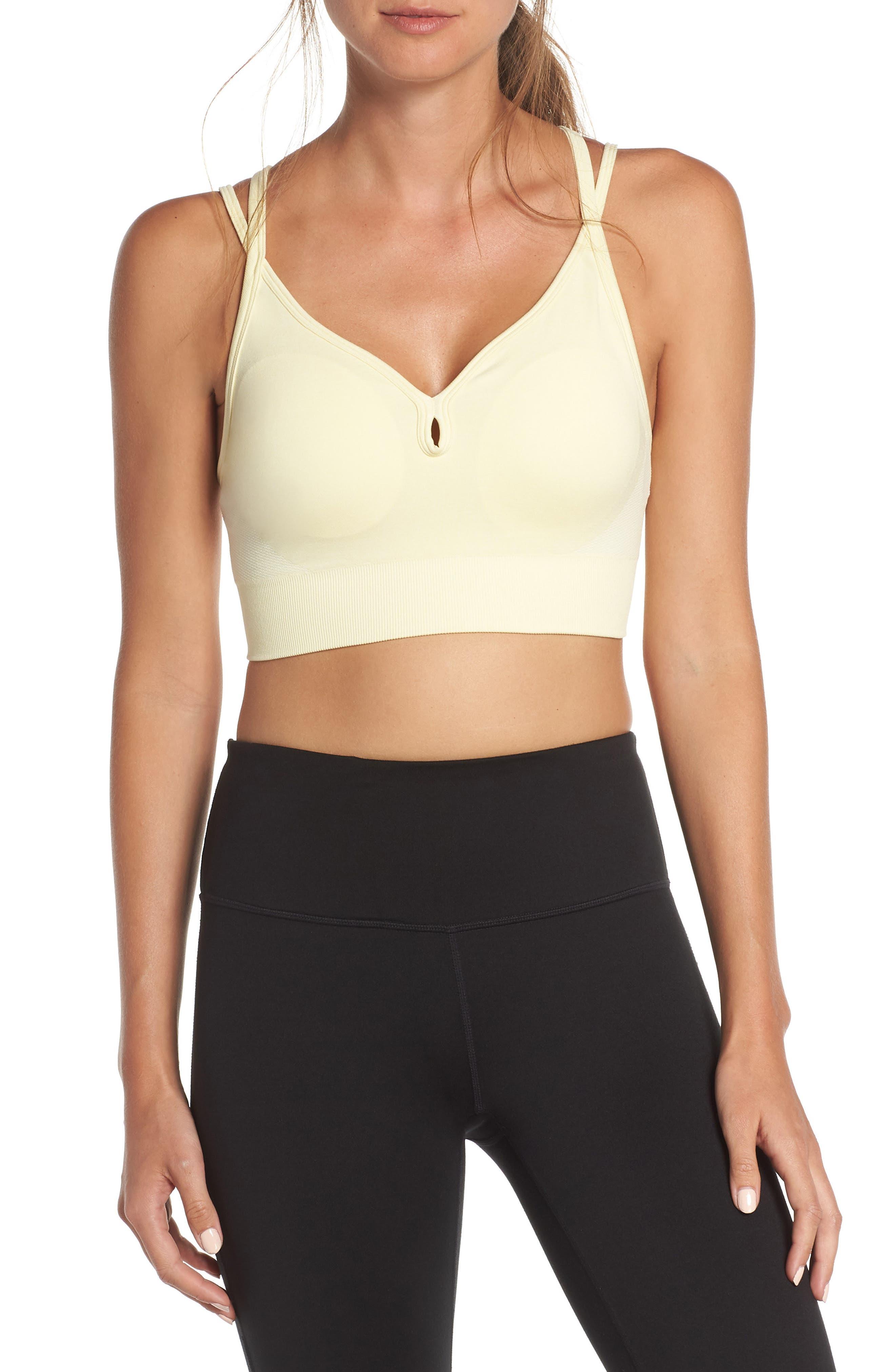 nike front closure sports bra