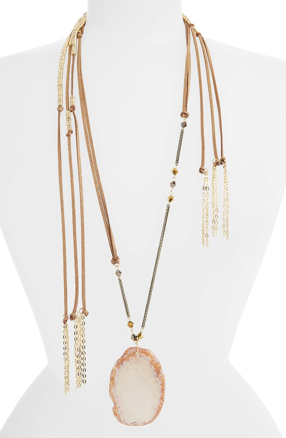 Main Image - Topshop Layered Fabric Necklace