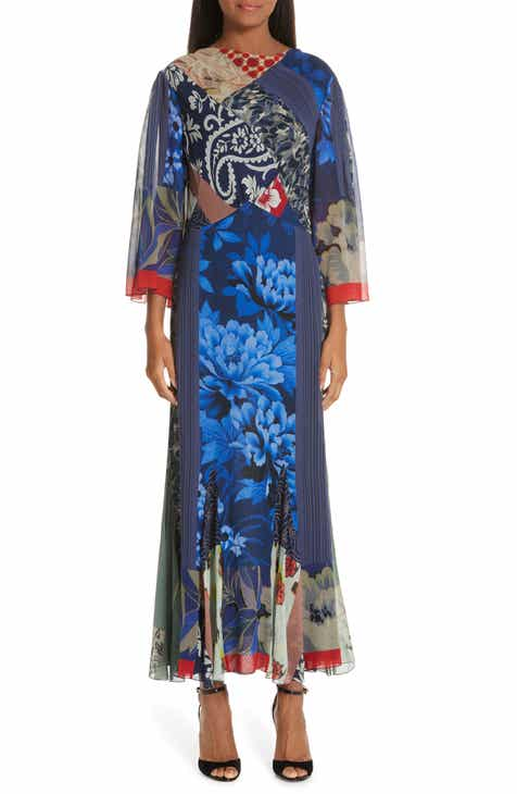 Etro Patchwork Silk Maxi Dress by ETRO