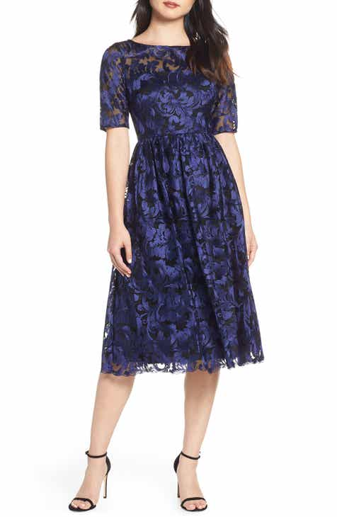 9806ba32d31 Adrianna Papell Embroidered Party Dress