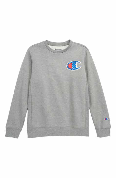 60b1b989d569 Champion Logo Patch Sweatshirt (Big Boys)