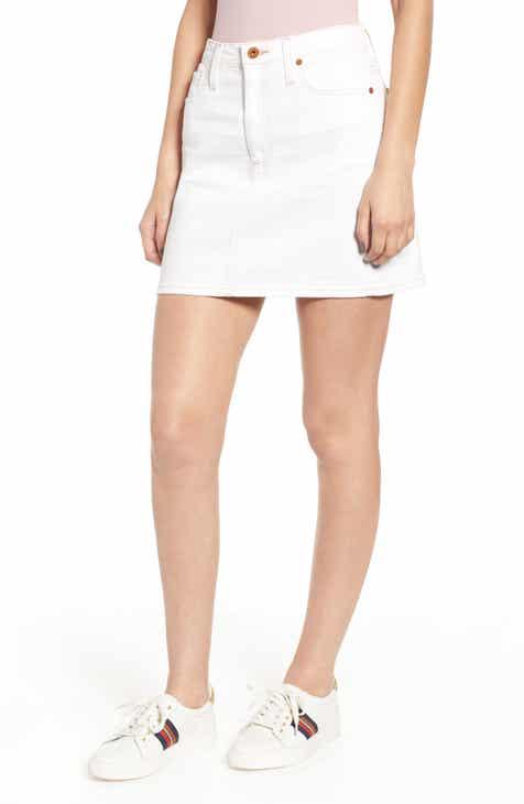 09b72faa7329d AG Vera Denim Skirt (01 Year Bare White).  178.00. Product Image