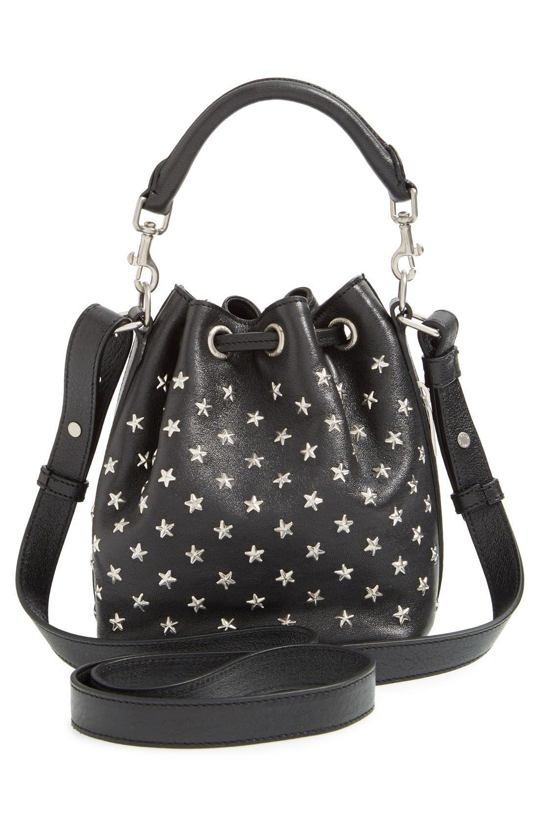 Alternate Image 2  - Saint Laurent Studded Small Leather Bucket Bag