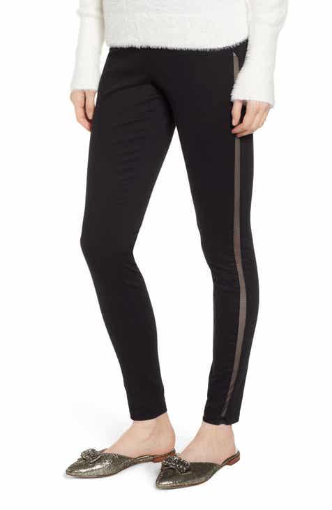 9c09ce92719 Hue High Waist Mesh Tuxedo Stripe Denim Leggings