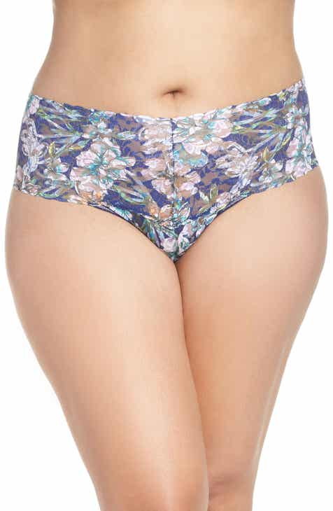 Hanky Panky Felice Floral Retro Thong (Plus Size) by HANKY PANKY