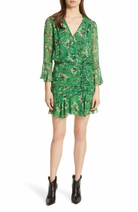 bf8d650d646 Veronica Beard Sean Floral Print Silk Minidress