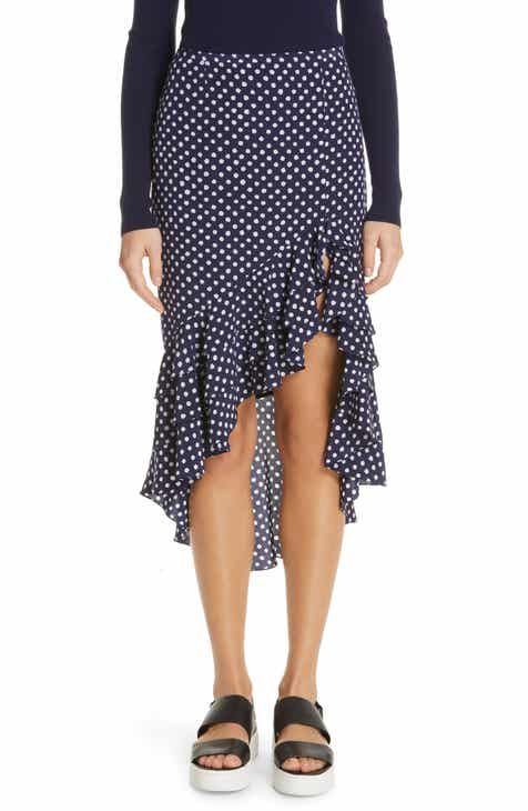 Michael Kors Rumba Polka Dot Silk Skirt by MICHAEL KORS