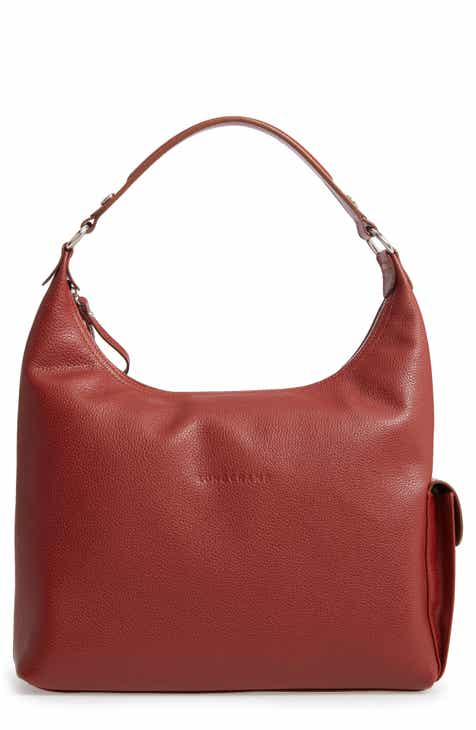 Longchamp Le Foulonné Leather Hobo 48026f9ce9625
