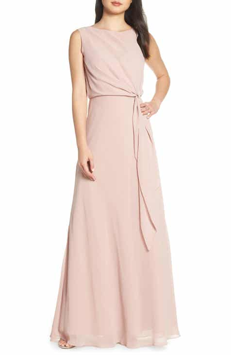 f5d29da7d0be Jenny Yoo Chiffon Overlay Evening Dress