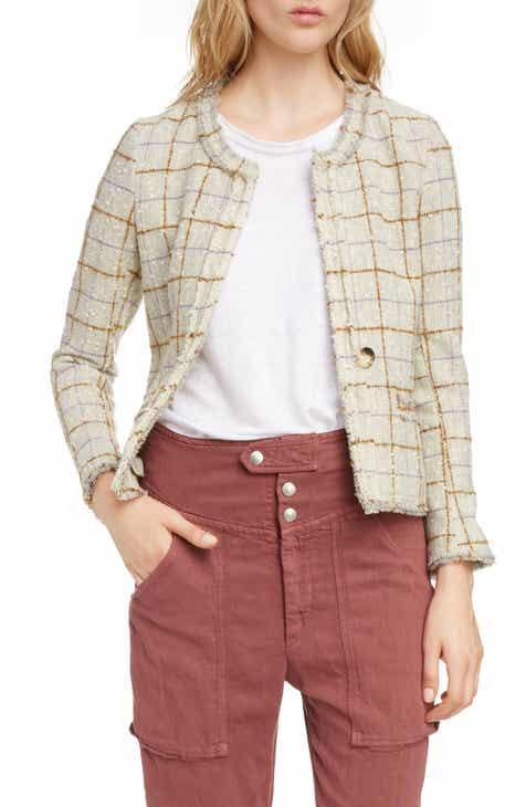 8215ebb86773a Isabel Marant Étoile Lyra Check Wool Blend Jacket