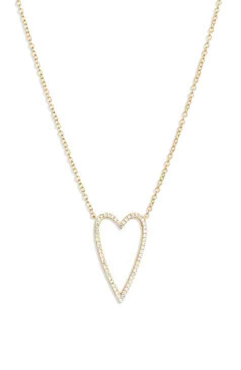 4d2884994a Bony Levy Large Diamond Open Heart Pendant Necklace (Nordstrom Exclusive)