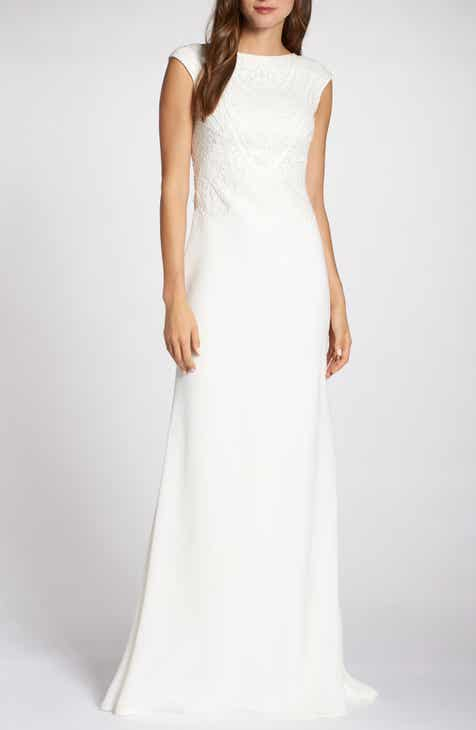 d02a2a752f7 Tadashi Shoji Embroidered Wedding Dress