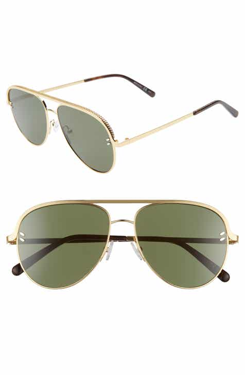 3cf6ecca566 Stella McCartney 58mm Aviator Sunglasses