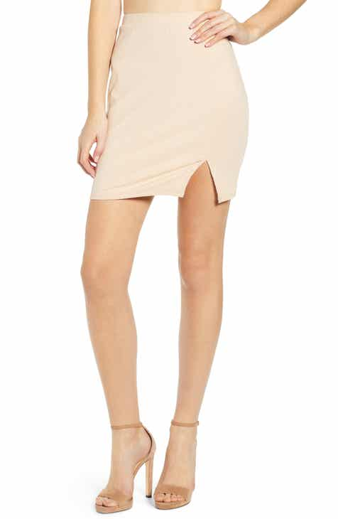 Fendi Logo Stripe Jersey Pencil Skirt by FENDI