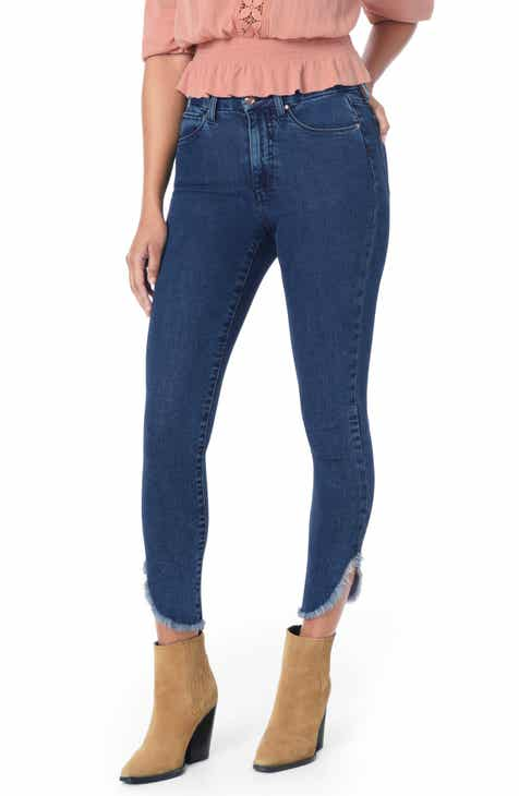 Joe's Flawless - Honey High Waist Dolphin Hem Skinny Jeans (Mabry) by JOES