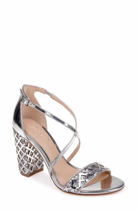 9613b159014 Jewel Badgley Mischka Ankle-Strap Evening Shoes
