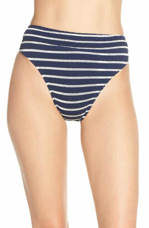 BOUND by Bond-Eye The Savannah High-Waist Ribbed Bikini Bottoms by BOUND BY BOND-EYE