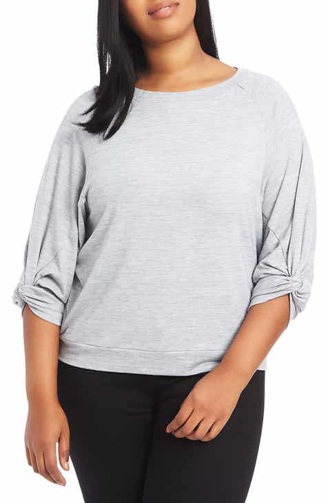 4e3dcdc6f53 STATE Twist Knot Sleeve Crewneck Top (Plus Size)