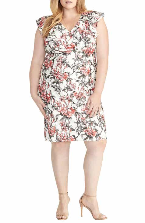 Karen Kane Asymmetrical Twist Front Maxi Dress (Plus Size) by KAREN KANE
