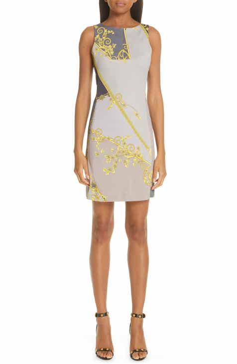 Versace Collection Barocco   Eyeshadow Print Dress f3192ed2434